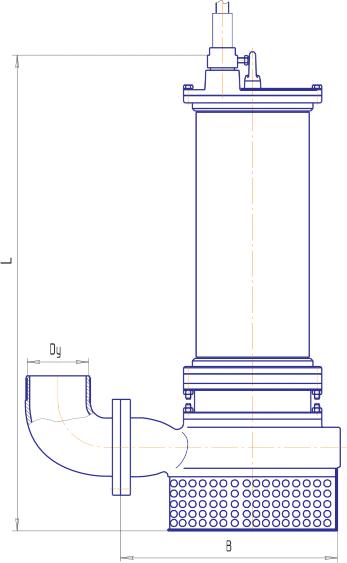 Габаритный чертеж взрывозащищенного насоса